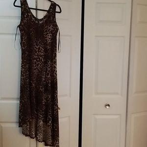 Women's Animal Print Dress; Size 14